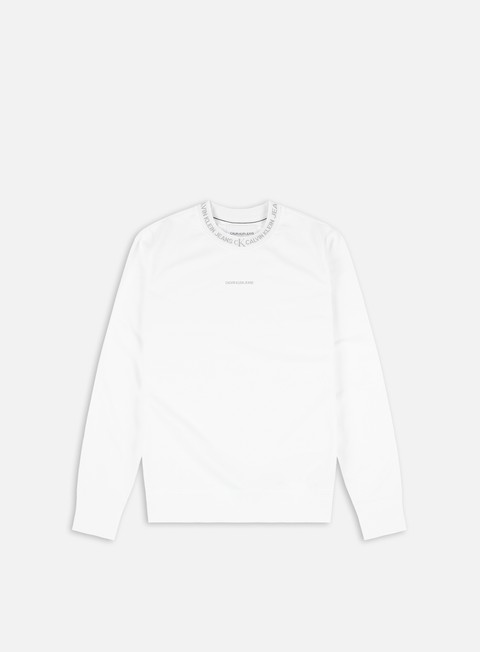 Felpe Girocollo Calvin Klein Jeans Logo Jacquard Crewneck