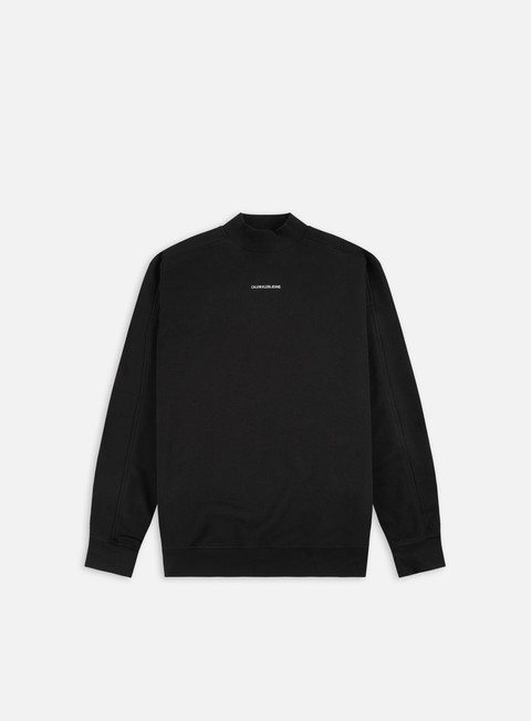 Calvin Klein Jeans Micro Branding Mock Neck Sweatshirt