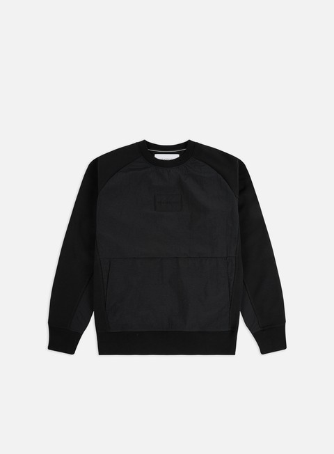 Sale Outlet Logo Sweatshirts Calvin Klein Jeans Mixed Media Crewneck