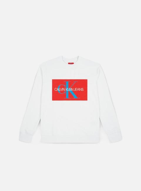 Outlet e Saldi Felpe Girocollo Calvin Klein Jeans Monogram Box Logo Crewneck