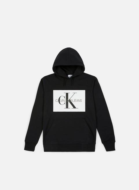 felpe calvin klein jeans monogram box logo hoodie ck black