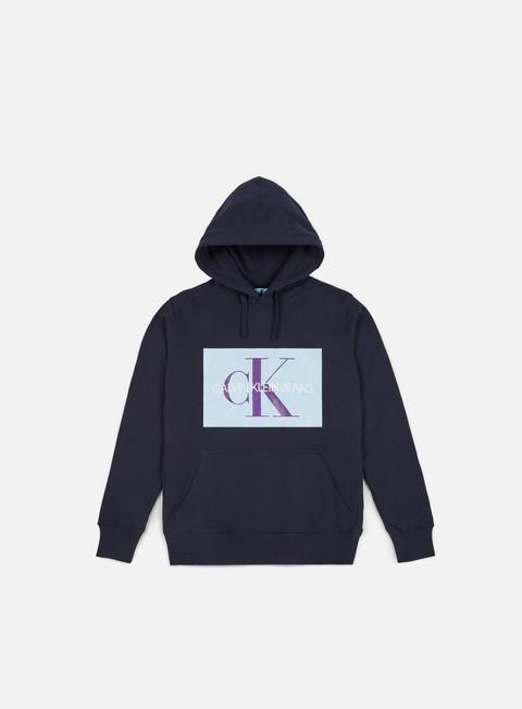 felpe calvin klein jeans monogram box logo hoodie night sky