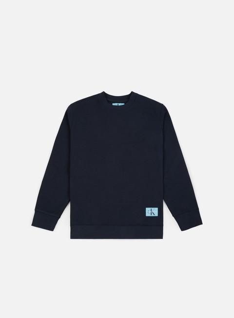 Outlet e Saldi Felpe Girocollo Calvin Klein Jeans Monogram Chest Logo Crewneck
