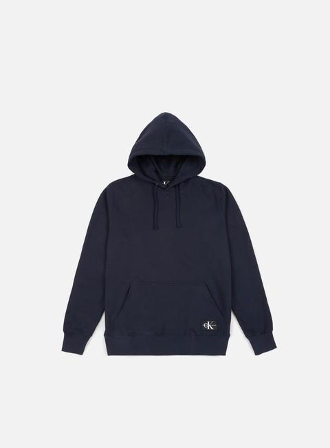 Outlet e Saldi Felpe con Cappuccio Calvin Klein Jeans Monogram Logo Badge Hoodie