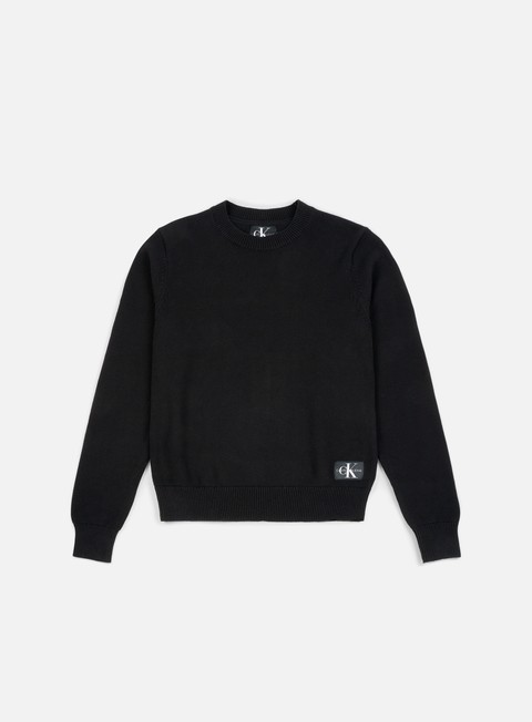 felpe calvin klein jeans monogram logo sweater ck black
