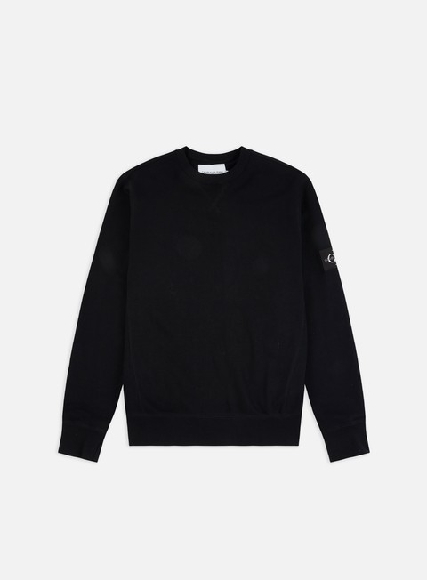 Felpe Girocollo Calvin Klein Jeans Monogram Sleeve Badge Crewneck