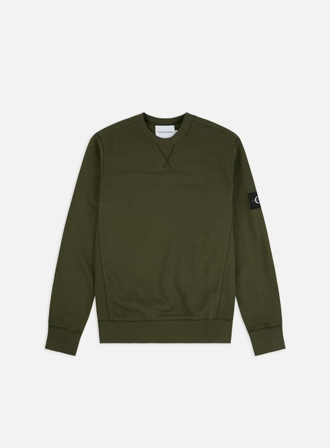 Outlet e Saldi Felpe Girocollo Calvin Klein Jeans Monogram Sleeve Badge Crewneck