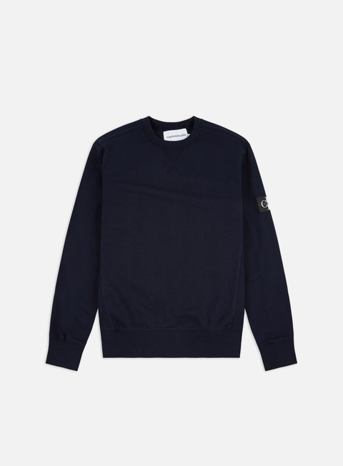 Calvin Klein Jeans Monogram Sleeve Badge Crewneck