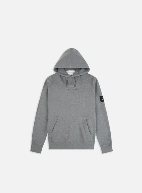 Hooded Sweatshirts Calvin Klein Jeans Monogram Sleeve Badge Hoodie