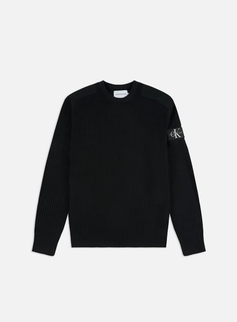 Outlet e Saldi Maglioni e Pile Calvin Klein Jeans Monogram Sleeve Badge Sweater