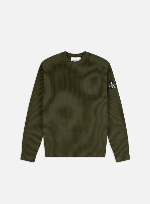 Calvin Klein Jeans Monogram Sleeve Badge Sweater
