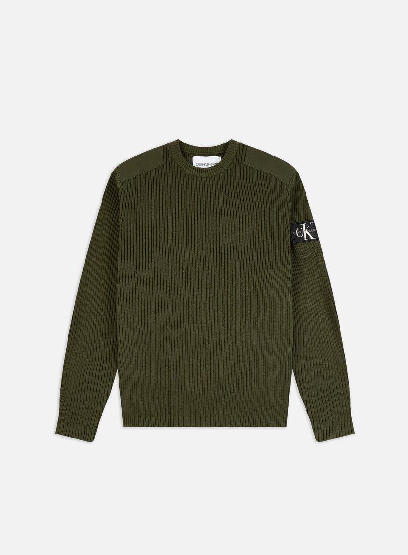 Calvin Klein Jeans Monogram Sleeve Badge Sweater