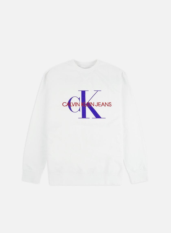Calvin Klein Jeans Monogram Vneck Insert Crewneck
