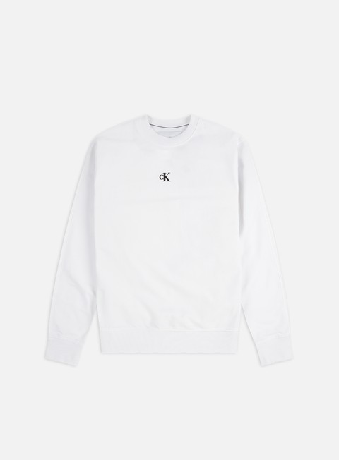 Outlet e Saldi Felpe Girocollo Calvin Klein Jeans Puff Print Crewneck