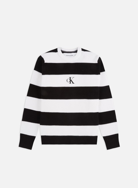 Sweaters and Fleeces Calvin Klein Jeans Striped Monogram Sweater