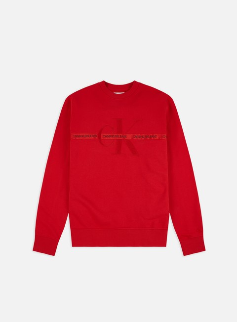 Felpe Girocollo Calvin Klein Jeans Taping  Through Monogram Crewneck