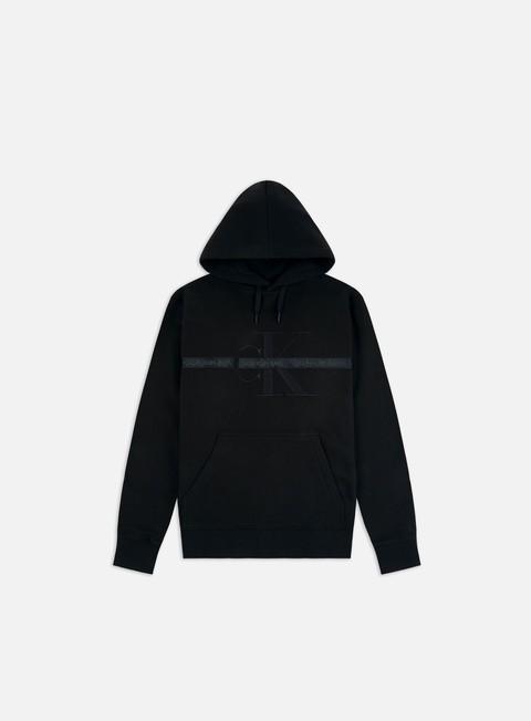 Outlet e Saldi Felpe con Cappuccio Calvin Klein Jeans Taping Through Monogram Hoodie