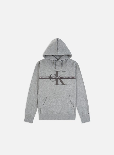 Hooded Sweatshirts Calvin Klein Jeans Taping Through Monogram Hoodie