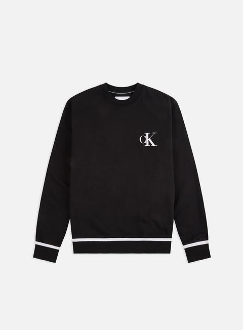 Sale Outlet Logo Sweatshirts Calvin Klein Jeans Tipping Crewneck