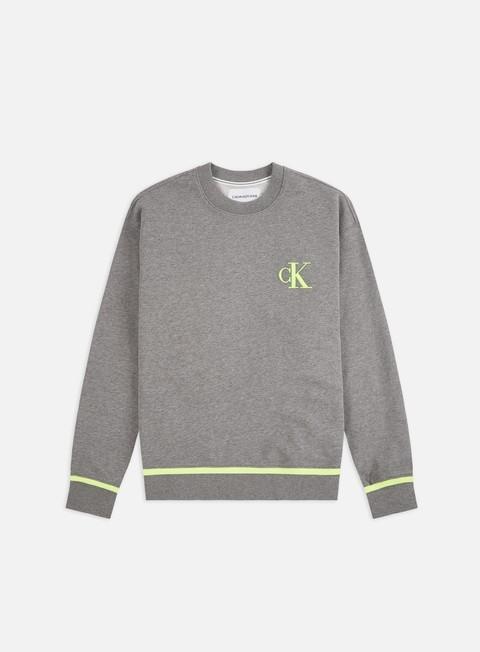 Outlet e Saldi Felpe Girocollo Calvin Klein Jeans Tipping Crewneck