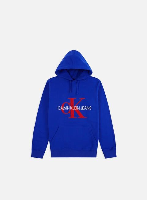 Outlet e Saldi Felpe con Cappuccio Calvin Klein Jeans Toweling Monogram Hoodie