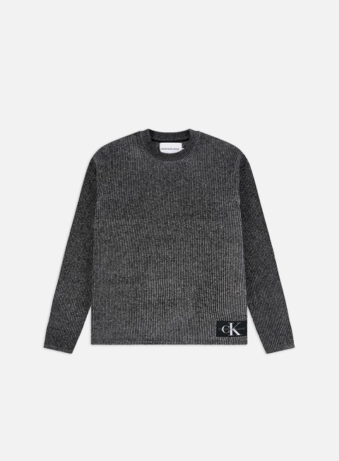 Calvin Klein Jeans Two Tone Cotton Crewneck Sweater