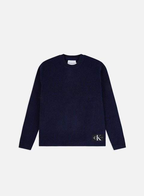 Sweaters and Fleeces Calvin Klein Jeans Two Tone Cotton Crewneck Sweater