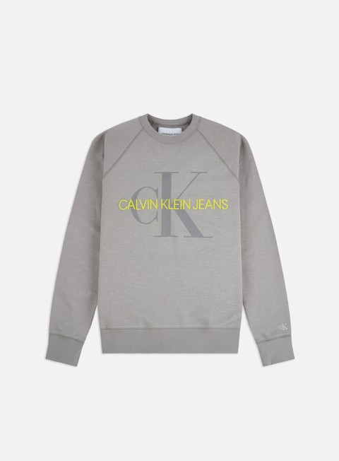 Outlet e Saldi Felpe Girocollo Calvin Klein Jeans Vegetable Dye Crewneck
