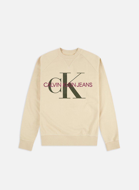Calvin Klein Jeans Washed Regular Monogram Crewneck
