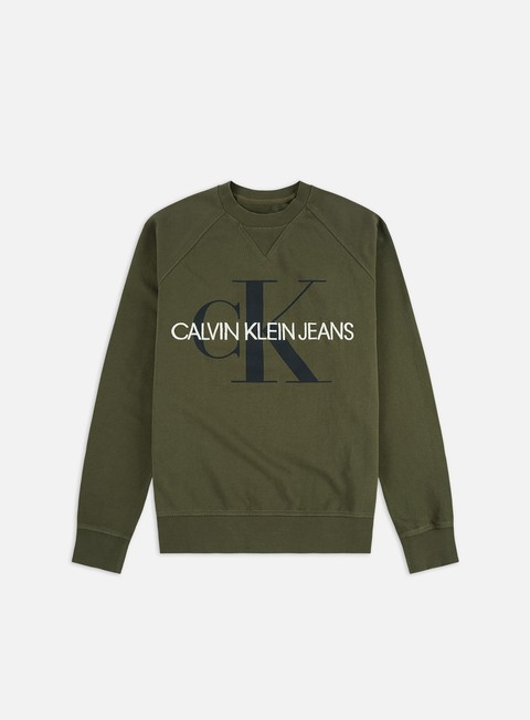 Sale Outlet Logo Sweatshirts Calvin Klein Jeans Washed Regular Monogram Crewneck