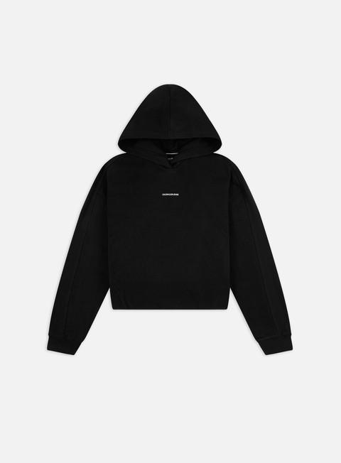 Hooded Sweatshirts Calvin Klein Jeans WMNS Micro Branding Hoodie