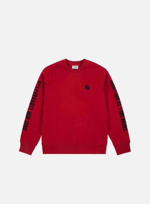 felpe carhartt 1989 wip sweatshirt blast red black