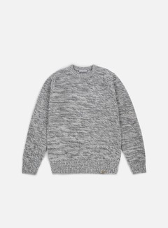 Carhartt - Accent Sweater, Wax/Cynder Dark Grey Heather 1