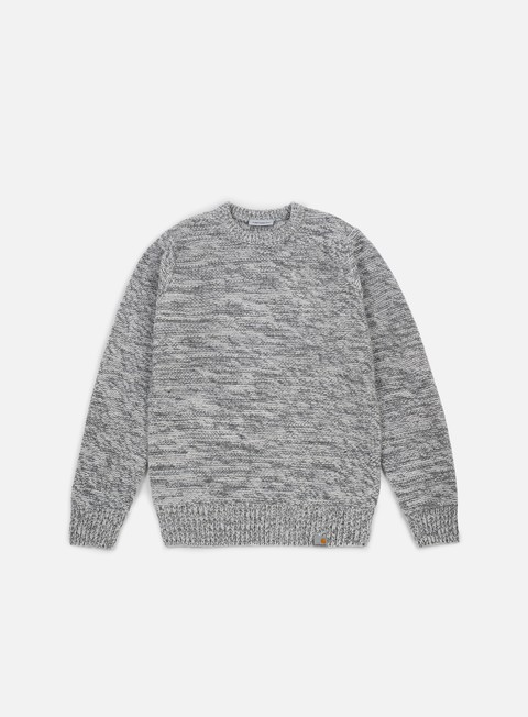 felpe carhartt accent sweater wax cynder dark grey heather