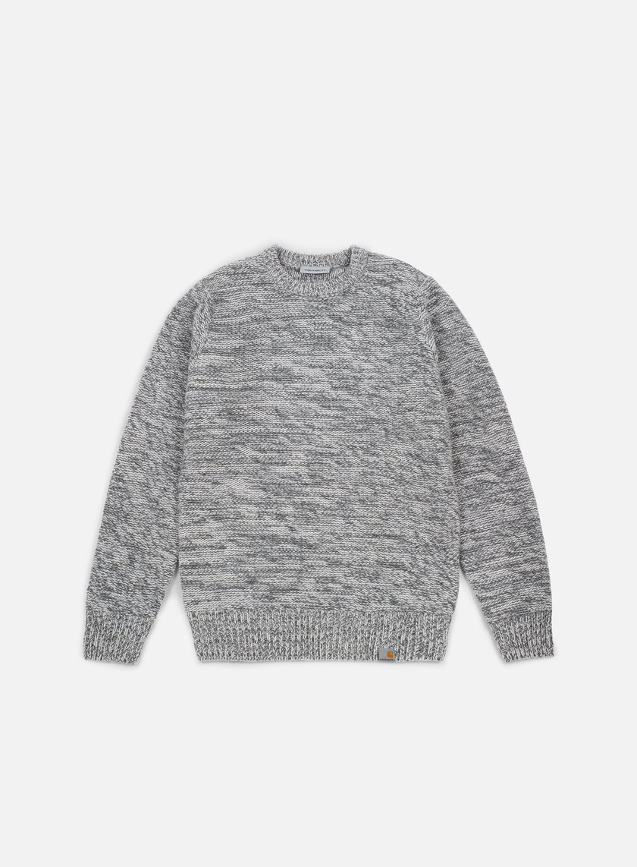 Carhartt - Accent Sweater, Wax/Cynder Dark Grey Heather