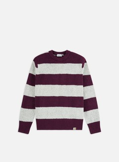Carhartt - Alvin Sweater, Alvin Stripe/Boysenberry/Grey Heater