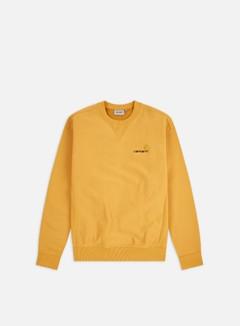 Carhartt - American Script Sweatshirt, Winter Sun
