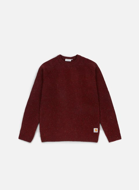 felpe carhartt anglistic sweater amarone heather