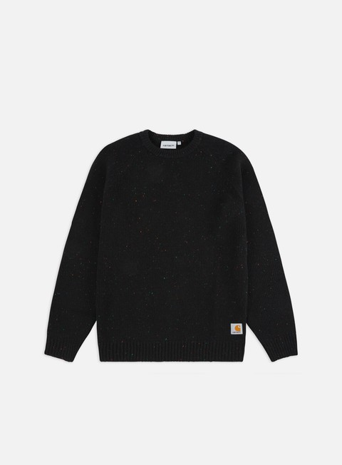 felpe carhartt anglistic sweater black heather