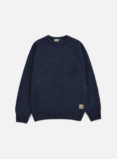 Carhartt - Anglistic Sweater, Navy Heather 1