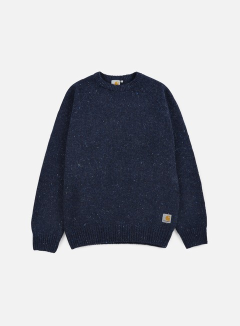 felpe carhartt anglistic sweater navy heather