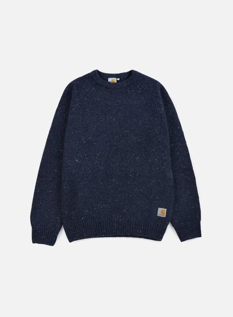 felpe carhartt anglistic sweater navy heather
