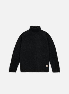 Carhartt - Anglistic Turtleneck Sweater, Black Heather 1