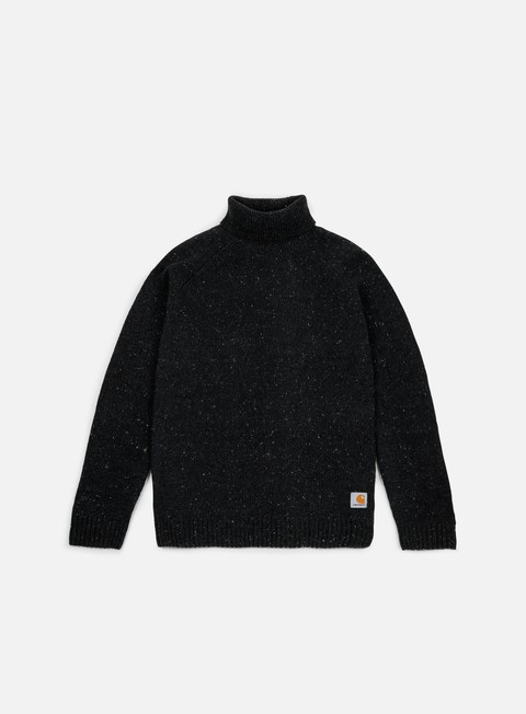 felpe carhartt anglistic turtleneck sweater black heather