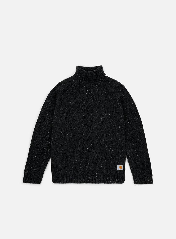 Carhartt - Anglistic Turtleneck Sweater, Black Heather