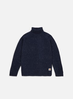 Carhartt - Anglistic Turtleneck Sweater, Navy Heather 1