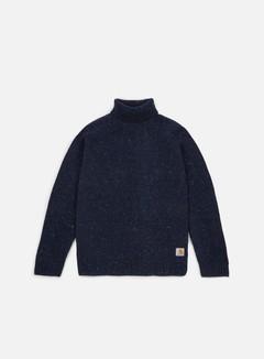 Carhartt - Anglistic Turtleneck Sweater, Navy Heather 1
