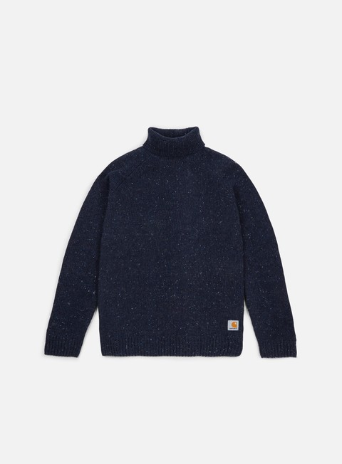 felpe carhartt anglistic turtleneck sweater navy heather
