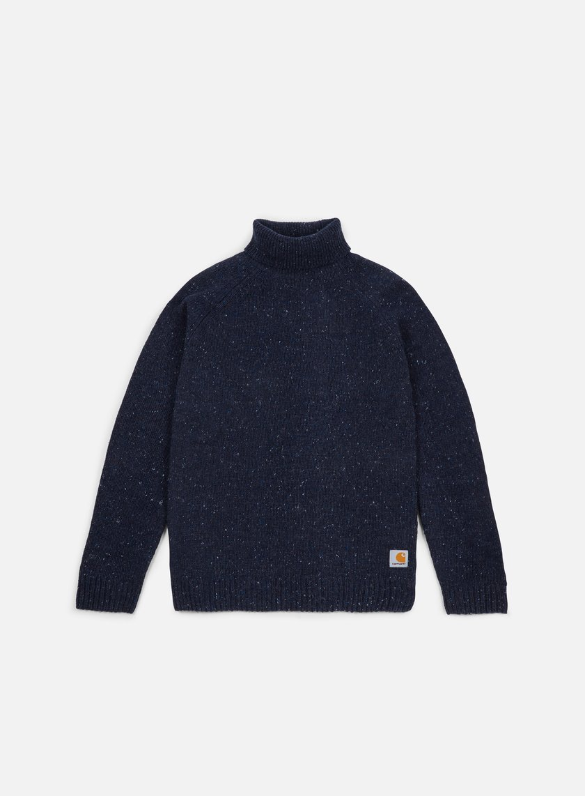 Carhartt - Anglistic Turtleneck Sweater, Navy Heather