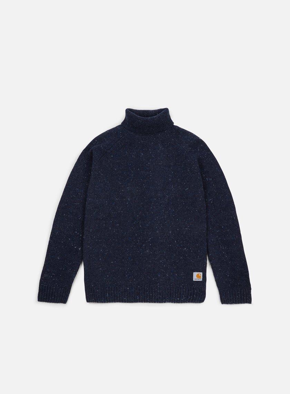 Carhartt - Anglistic Turtleneck Sweater, Navy Heather
